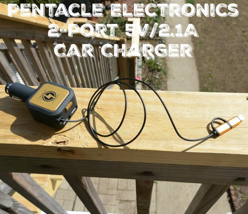 Pentacle Electronics 2-Port 5V2.1A Car Charger