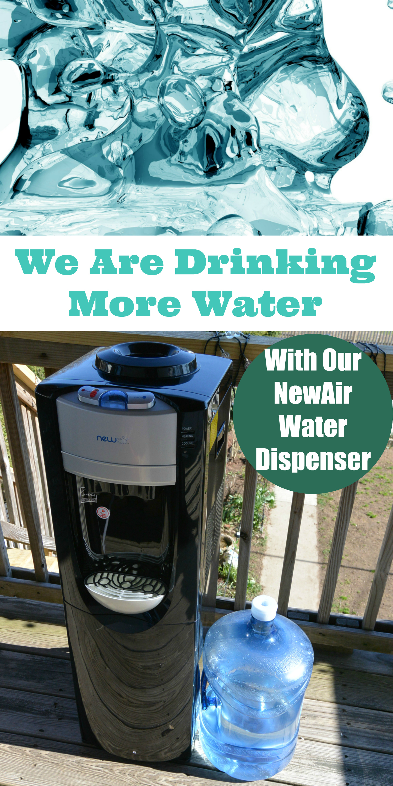 We Are Drinking More Water With Our NewAir Water Dispenser
