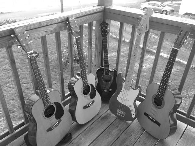 my guitars black and white