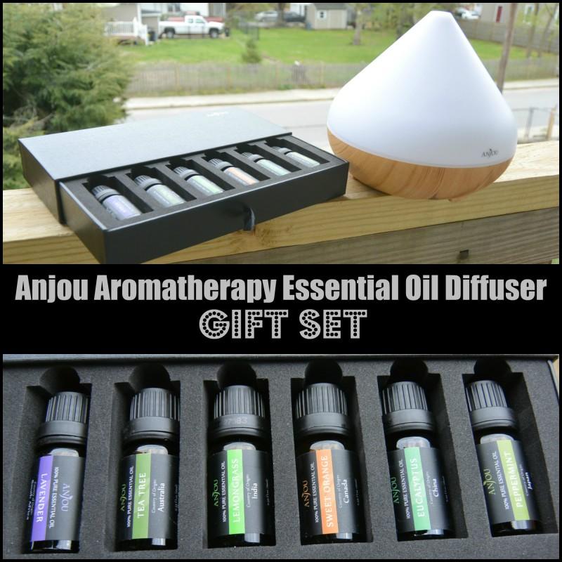 Anjou Aromatherapy Essential Oil DiffuserGift Set