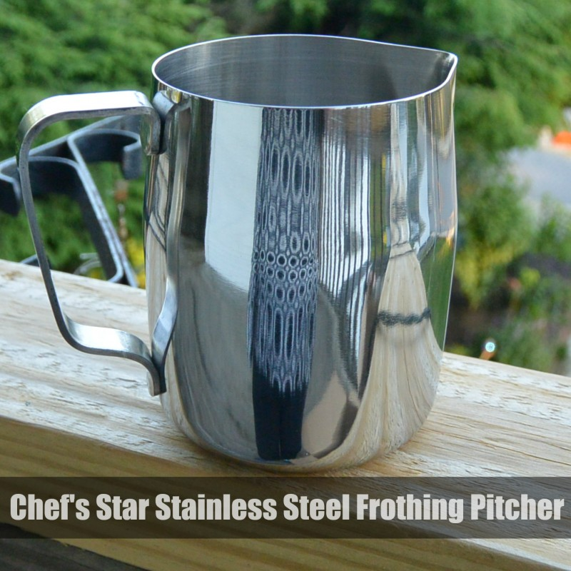 Chef's Star Stainless Steel Frothing Pitcher #frothing