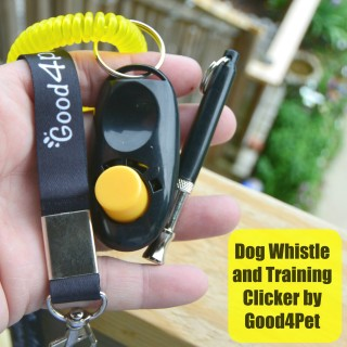 Dog Whistle and Training Clicker by Good4Pet
