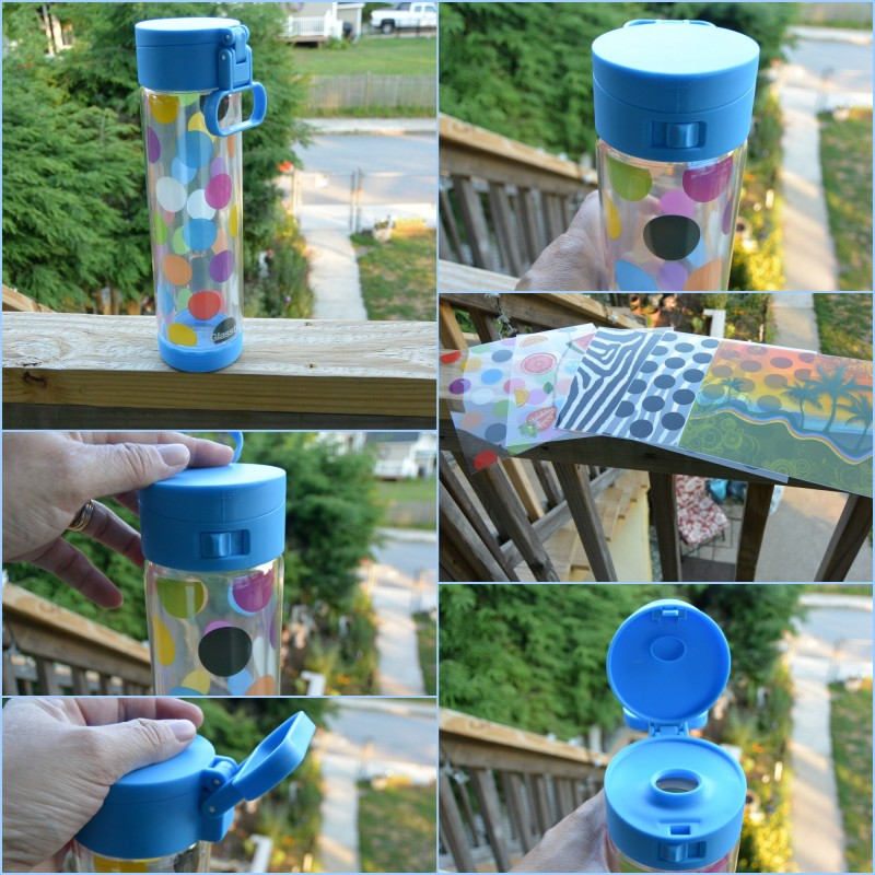 Glasstic Shatterproof Glass Water Bottle With Decorative Inserts!