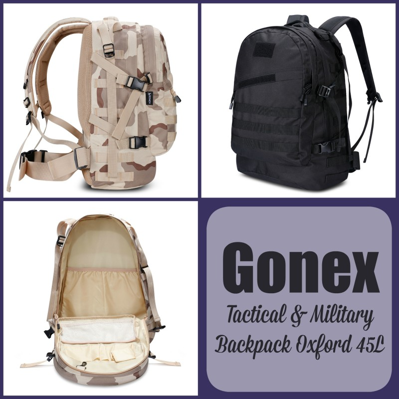 Gonex Tactical Military Backpack Oxford 45L