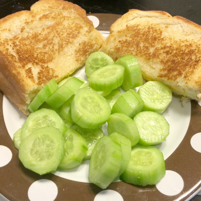 Grilled Cheese and Cucumbers
