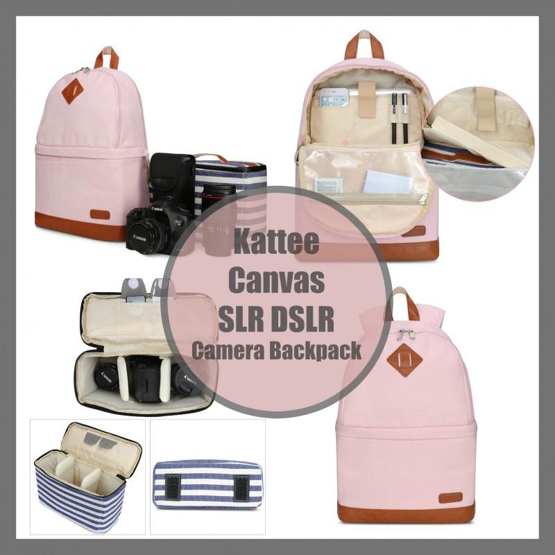 Kattee Canvas SLR DSLR Camera Backpack
