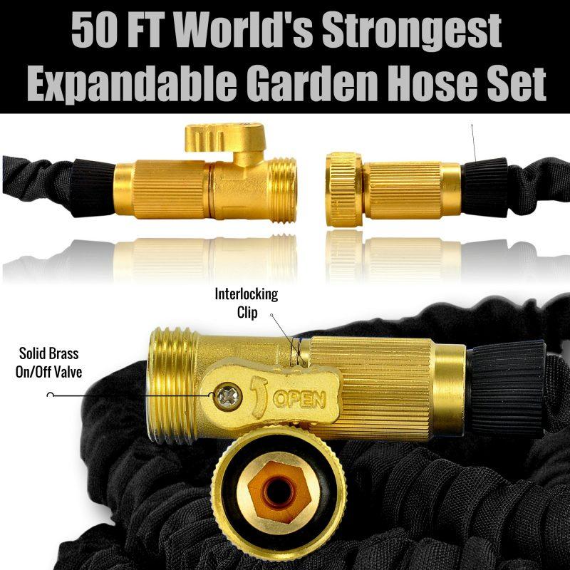 50 FT World's Strongest Expandable Garden Hose Set