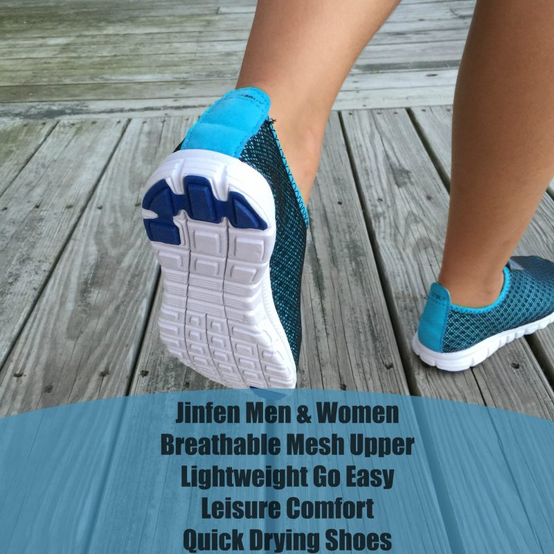 Jinfen Men & Women Breathable Mesh Upper Lightweight Go Easy Leisure Comfort Quick Drying Shoes