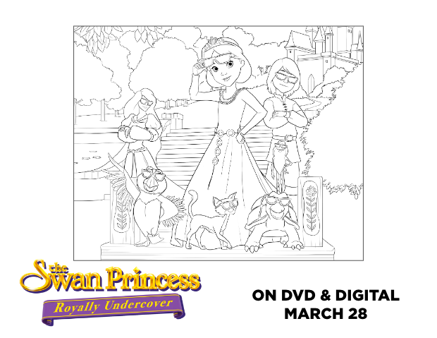 Swan Princess official coloring page 17.png | Princess coloring ... | 479x620