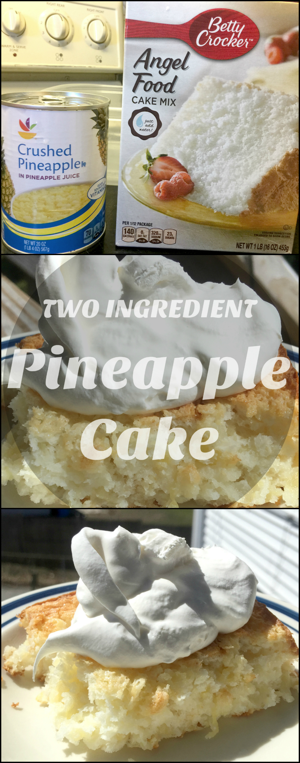 Two Ingredient Pineapple Cake - Delicious and Easy