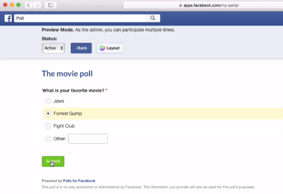 Create A Facebook Poll In Minutes! ⋆ The Stuff of Success