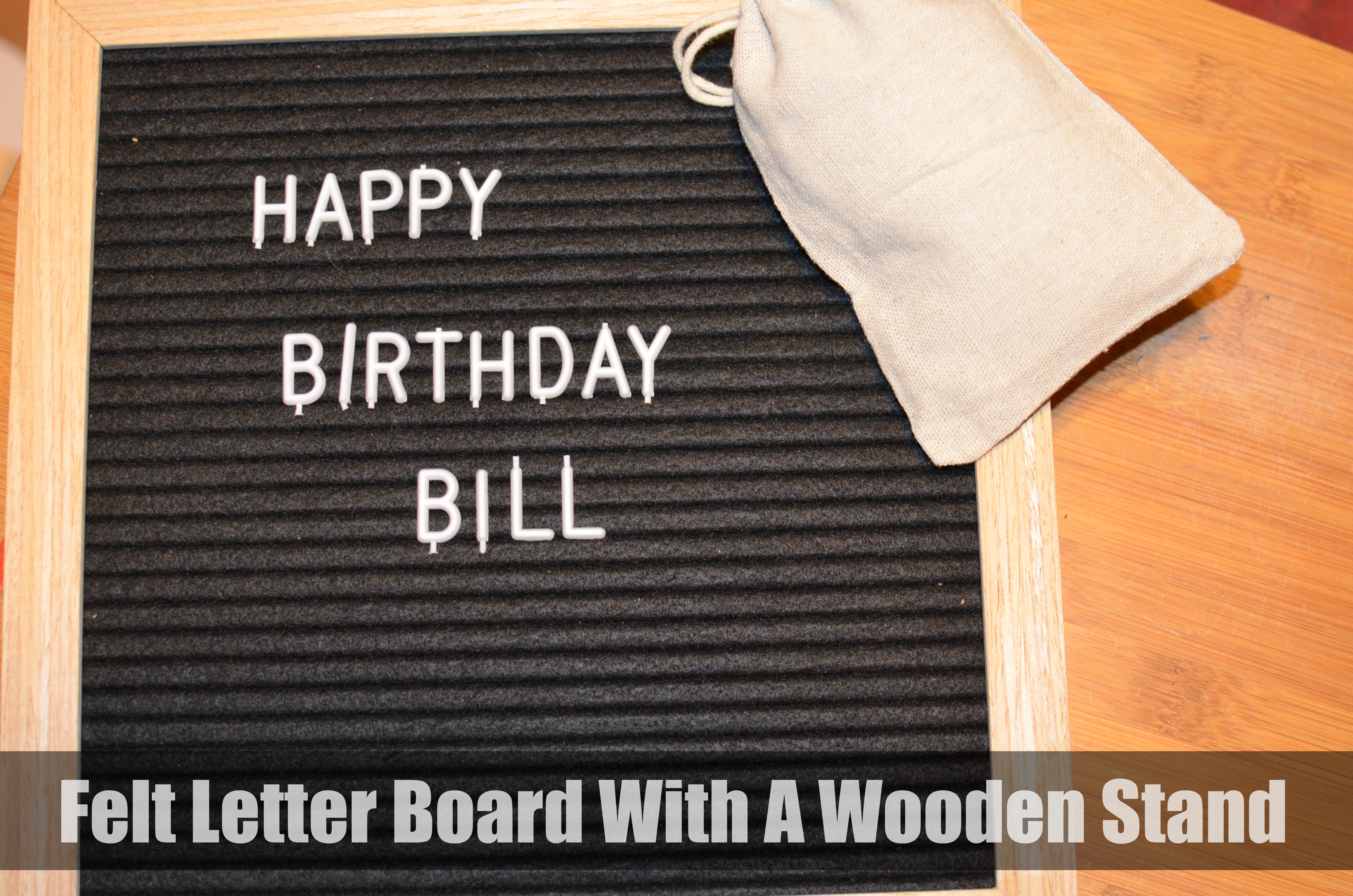Felt Letter Board With A Wooden Stand JustFeltRight ⋆ The Stuff of