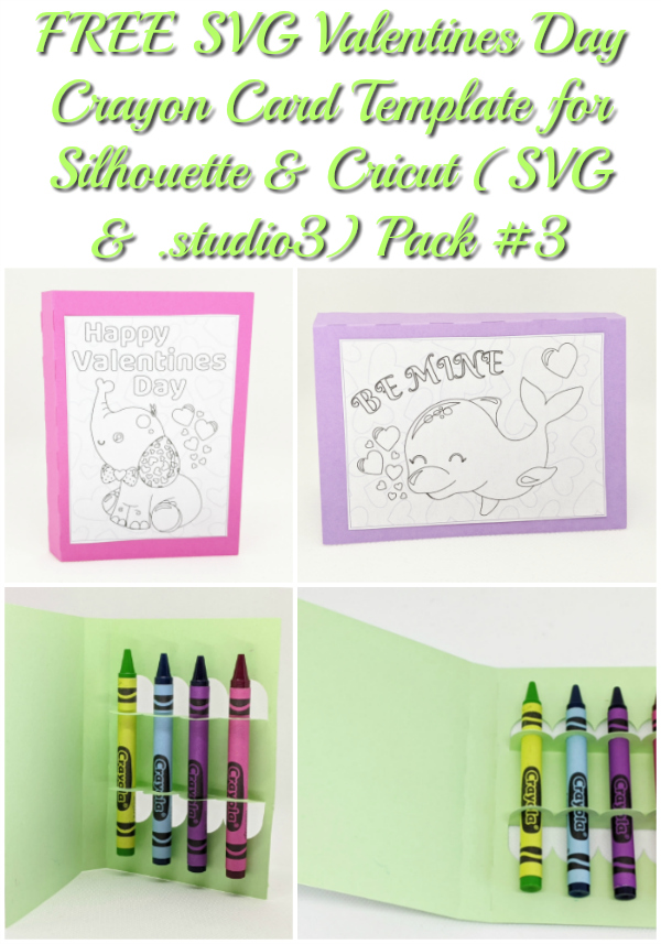 free svg valentines day crayon card template for