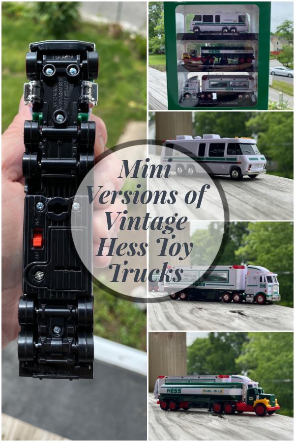 Mini Versions Of Vintage Hess Toy Trucks