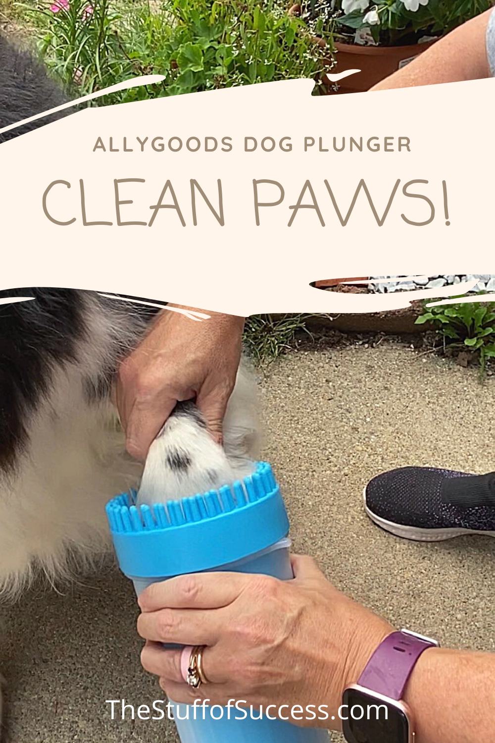 Allygoods Dog Plunger - Clean Paws!